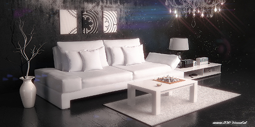 Couch weiss modern 05 raum AE PS2