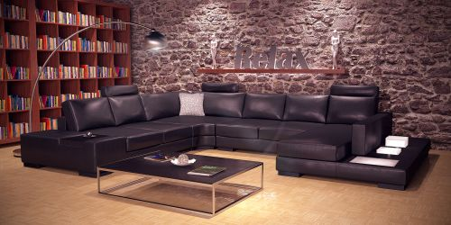 Leather couch 03
