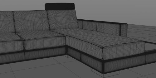 leather couch mesh