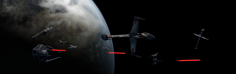 B-Wing vs Tiefighter scene1